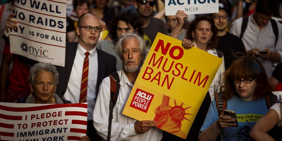 Trump travel ban protesters