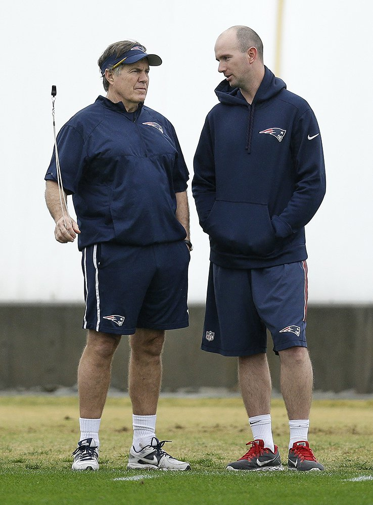 "Coach Bill Belichick and Patriots ""character coach"" Jack Easterby"