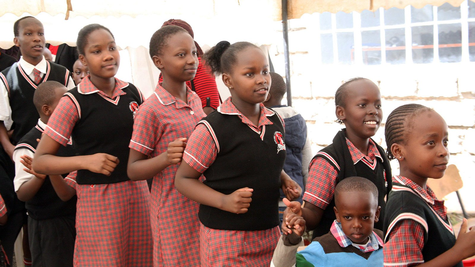 Kenya school students