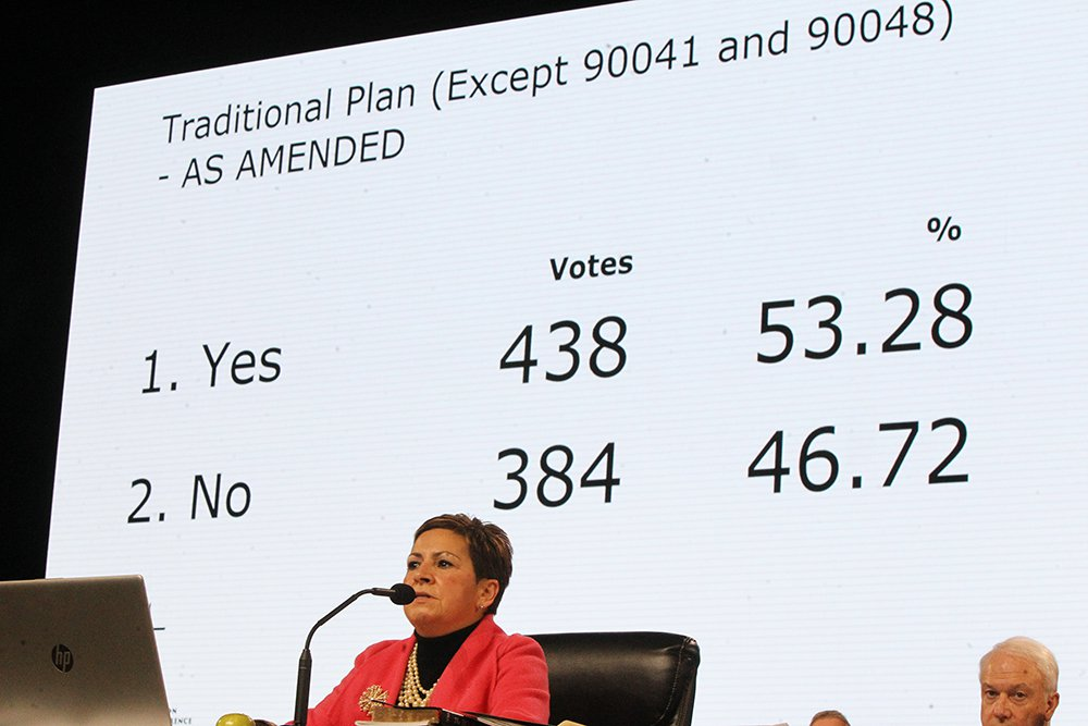 Traditional Plan passes UMNGC.