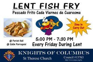 Fish Fry - Pescado Frito @ St. Therese of Jesus Catholic Church (Parish Hall)