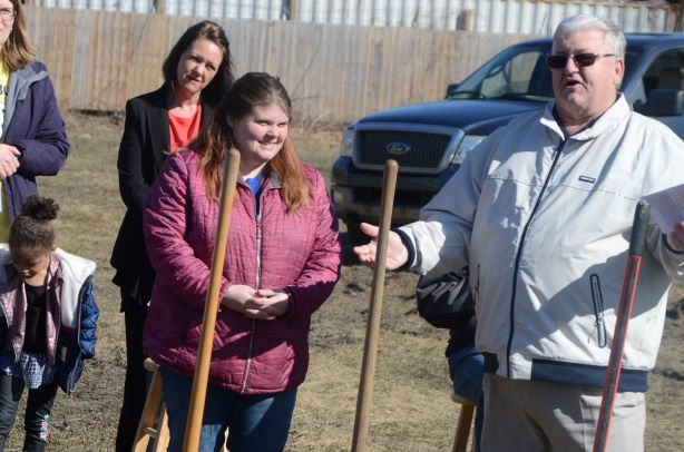 Ground breaking for a new Habitat home.