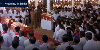 Christian massacre in Sri Lanka.