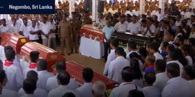 Christian massacre in Sri Lanka.