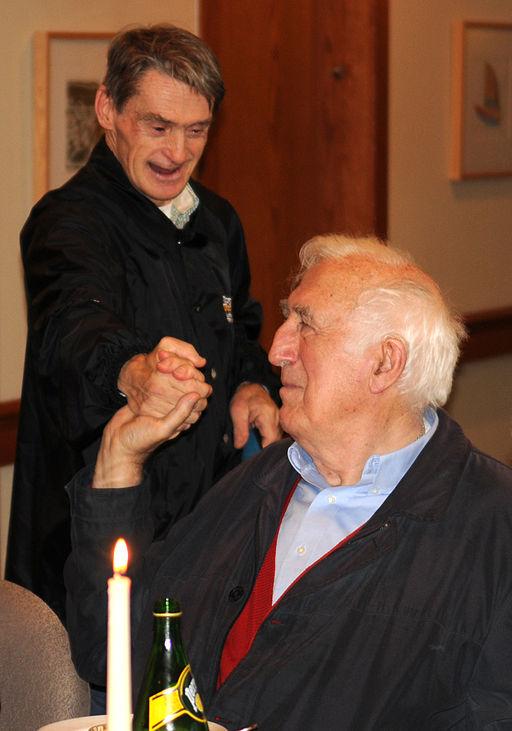 Jean Vanier greeting.