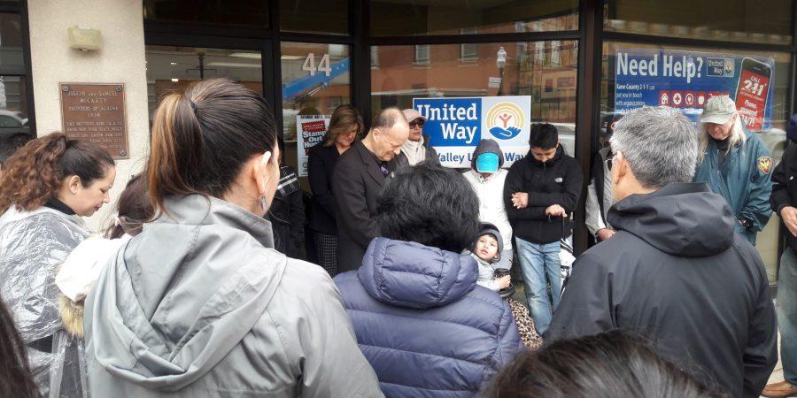 Prayer walk to FV United Way.