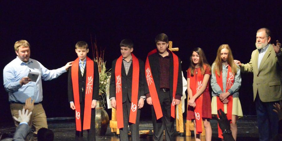 First youth members at Flowing Forth UMC