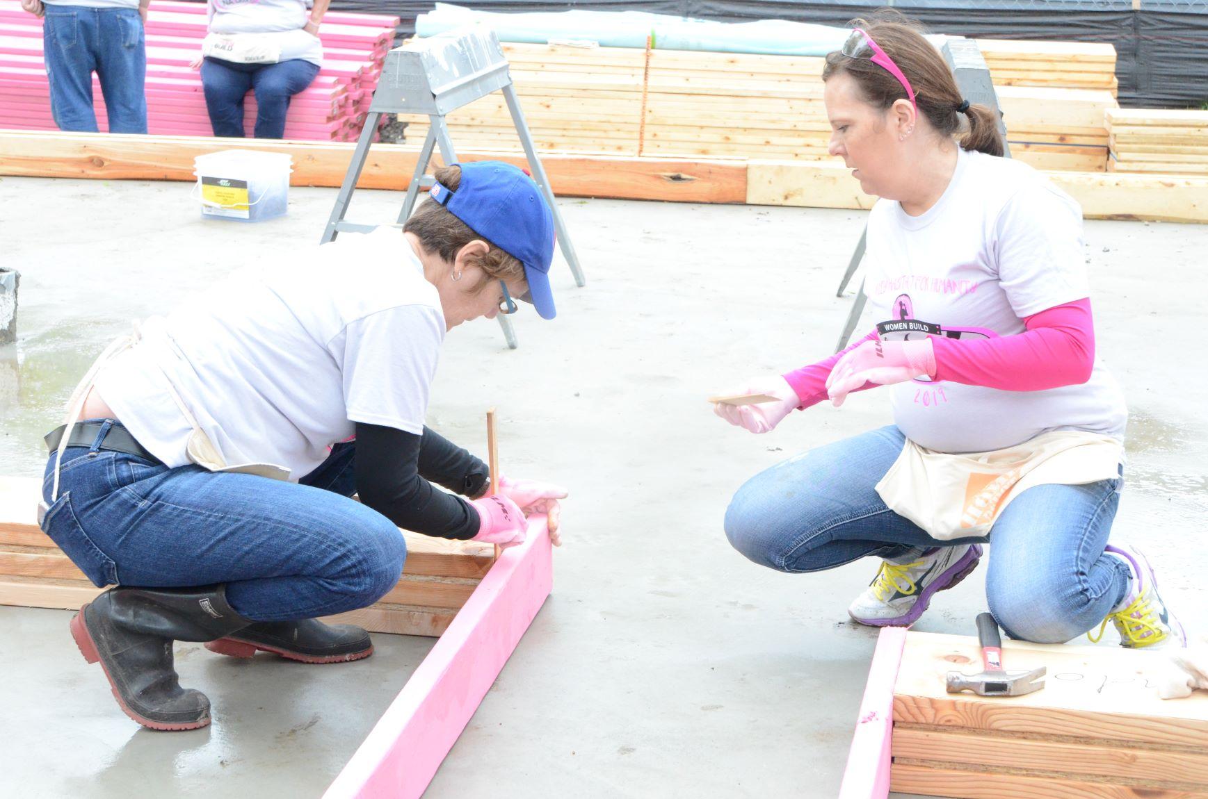 Rona Hunter-Foltos, left, and Katherine BruckWomen  part of Women Build