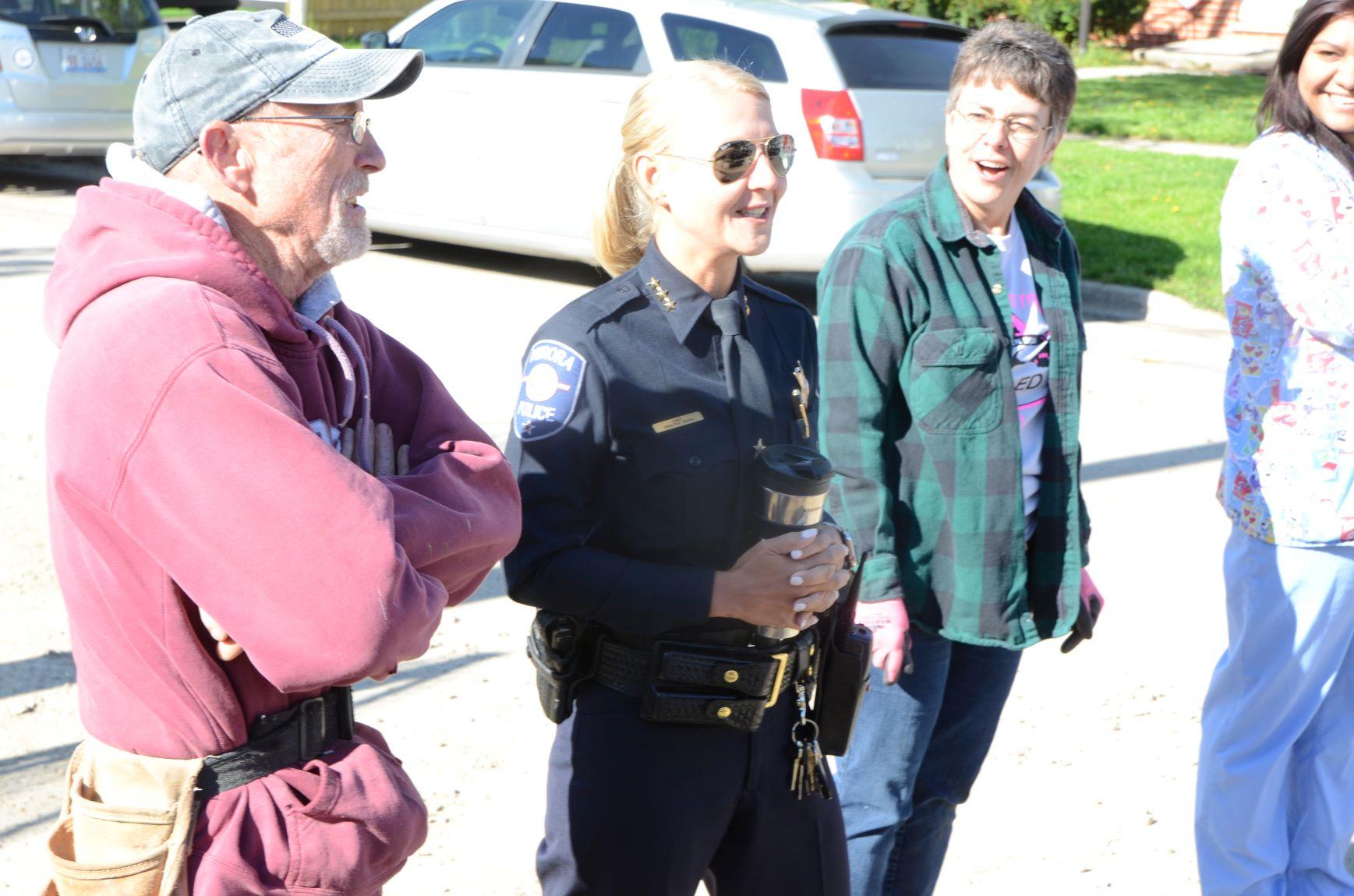 Aurora Police Chief Kristen Ziman, at Women Build May 10
