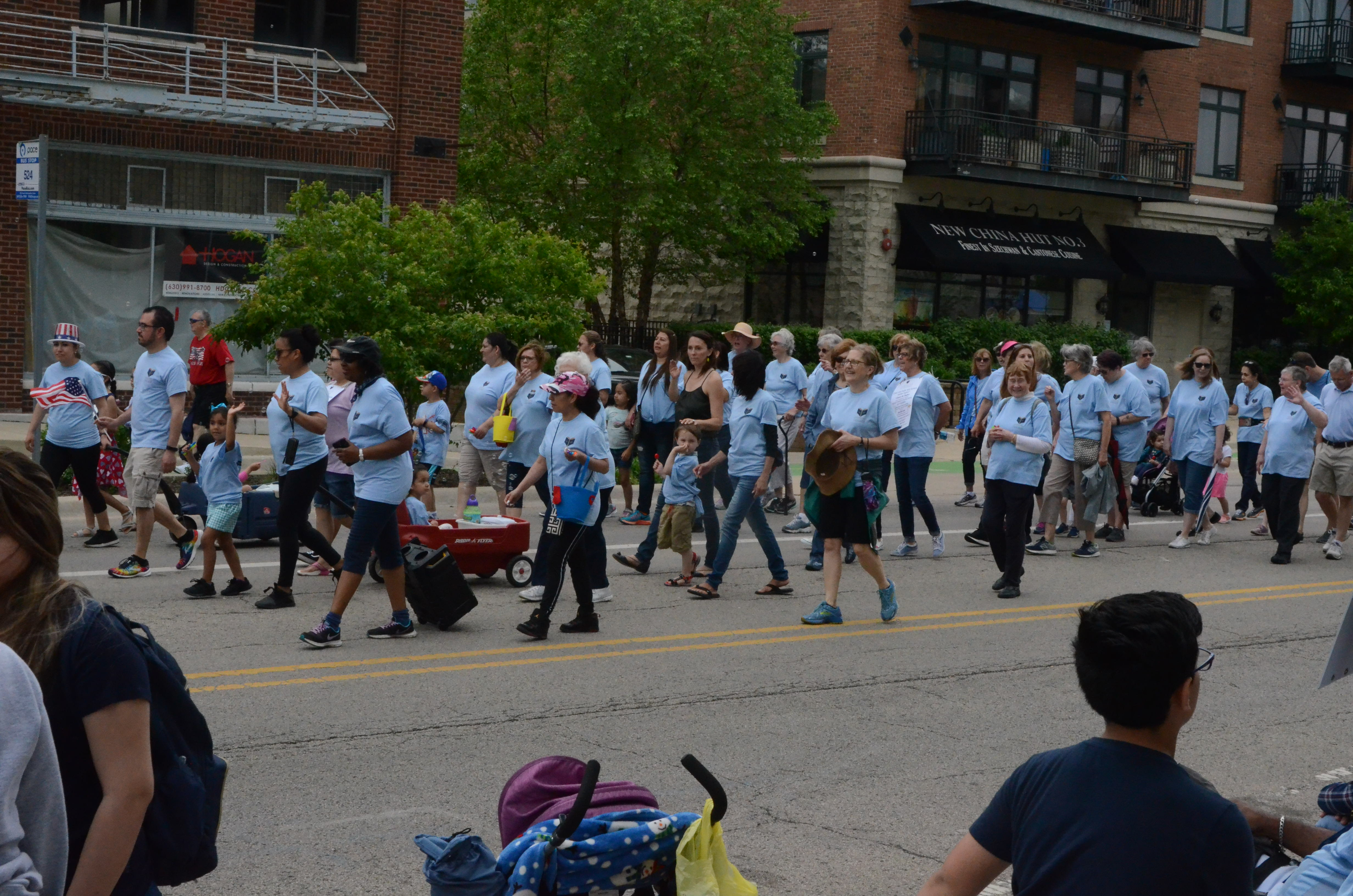 Dominican Literacy Center marches in parade.
