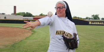 Catholic Sister with a mean pitch