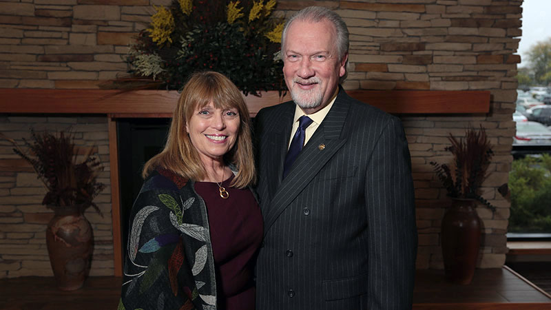 Taylor University President and wife