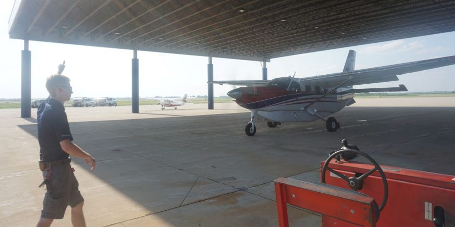 Take-off at Aurora Municipal Airport