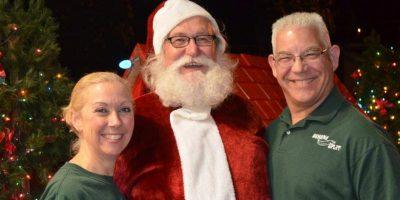 Santa's visit to Banana Split