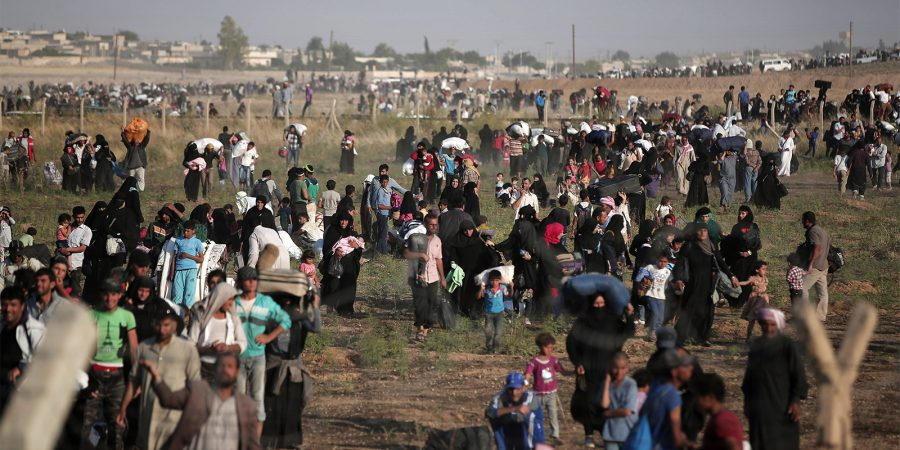 Refugees at border