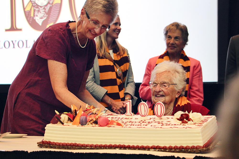 Loyola's Sister Jean celebrates her 100th birthday