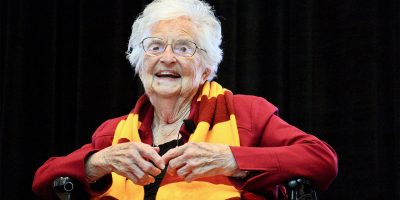 Loyola's Sister Jean celebrates her 100th birthday with scholarship, well wishes
