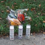 Memorial at one the prayer vigils for homicide victims