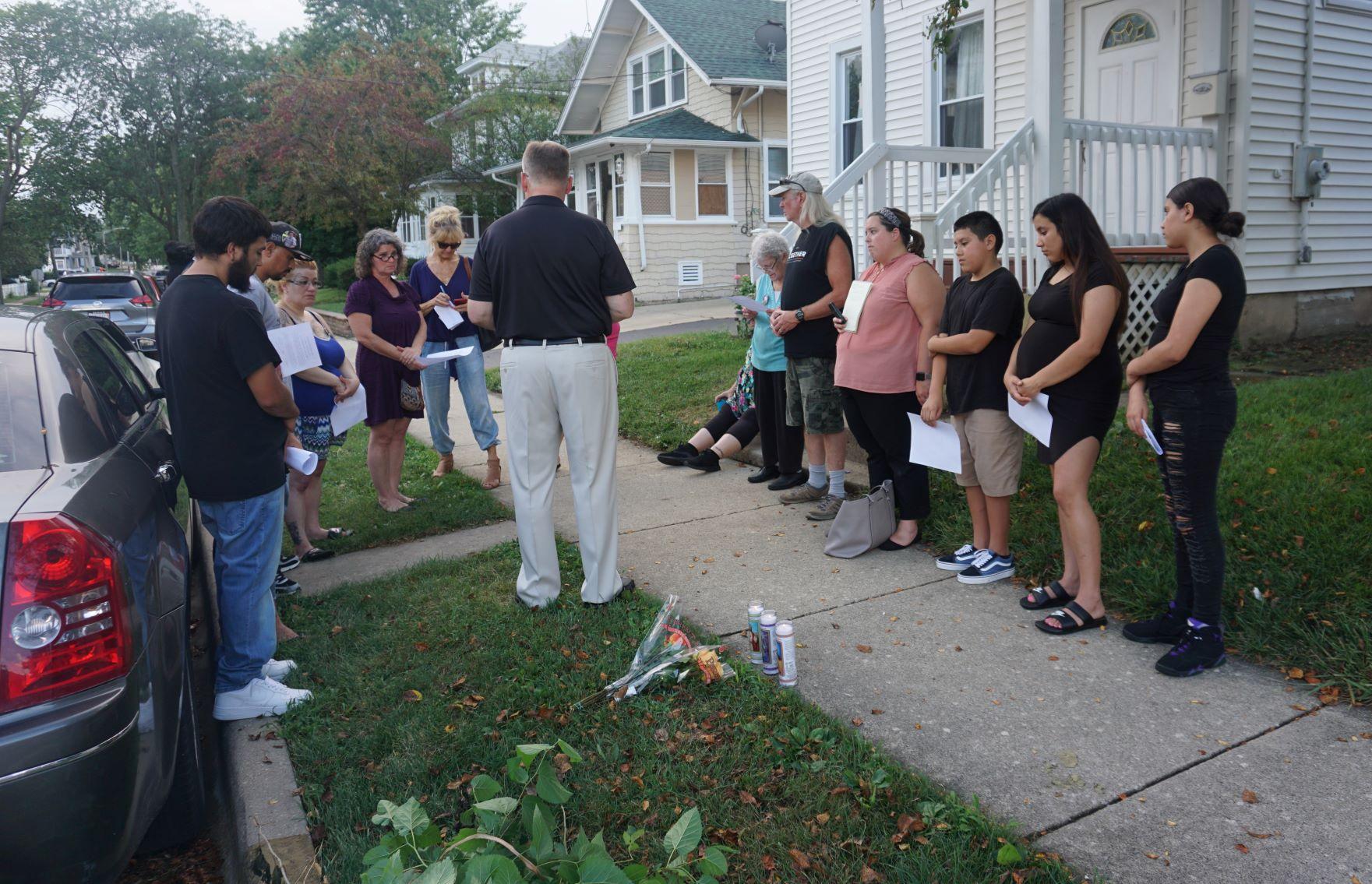 Nicholas Rodriguez is one of Monday'sprayer vigils for homicide victims