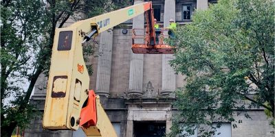 Masonic Temple demolition begins