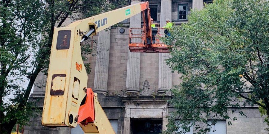 Masonic Temple demolition begins