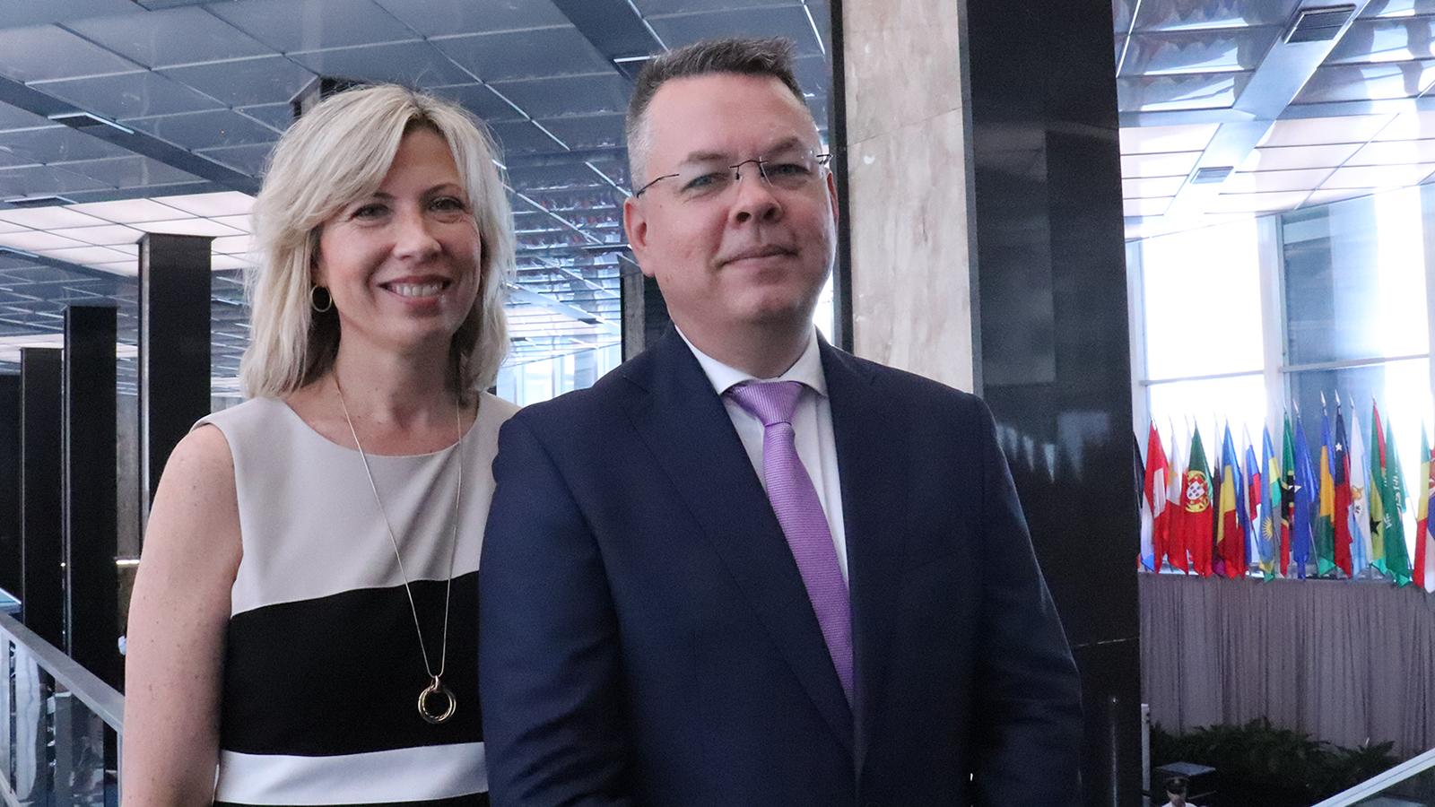 Andrew Brunson and wife Norine