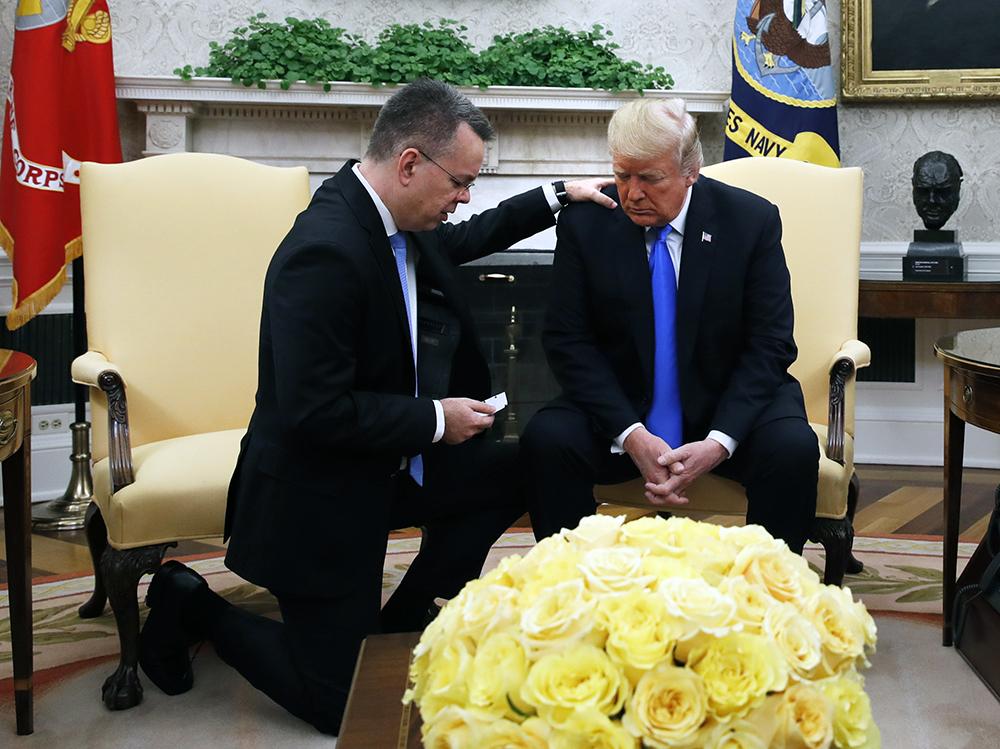 Andrew Brunson and President Trump