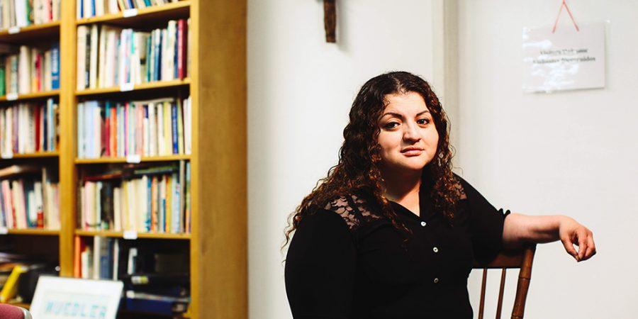 Rosa Ortez Cruz in a church sanctuary