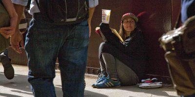 Homeless in Chicago.