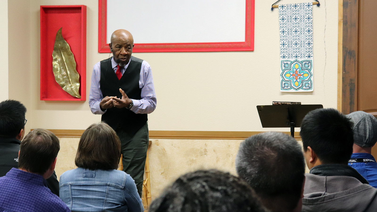 John Perkins conduct workshop at Mosaix
