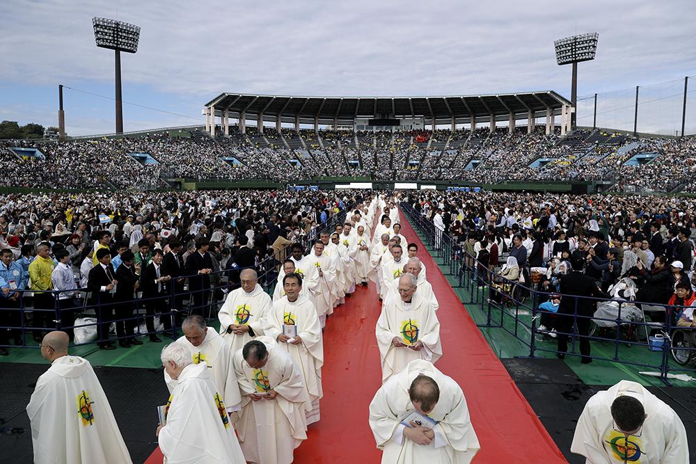 Pope Francis says mass in Nagasaki
