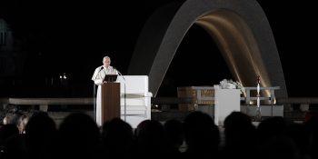 Pope Francis speaks in Hiroshima