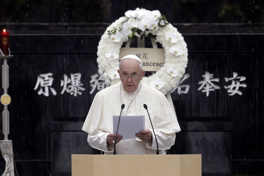 Pope Francis talks about nuclear weapons as immoral