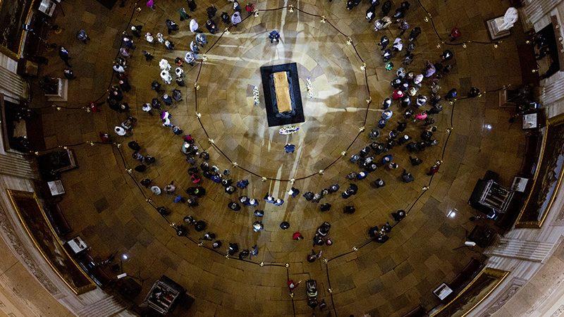 Graham casket at U.S. Capitol