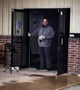 Jason Goad uses drive-in worship.