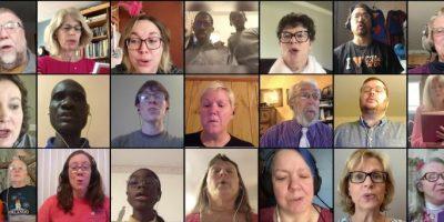 Virtual choir banner - UMC