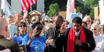 William Barber at a march