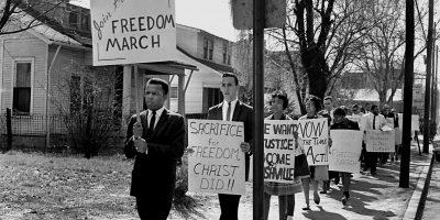 John Lewis marching