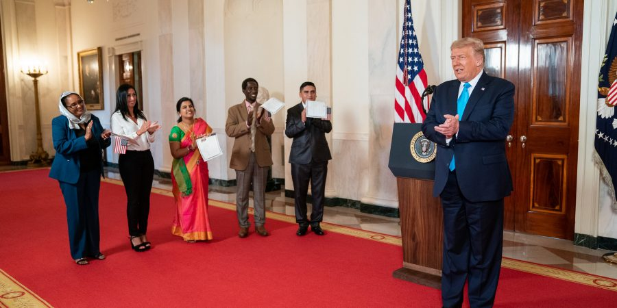 President Trump Participates in a Naturalization Ceremony
