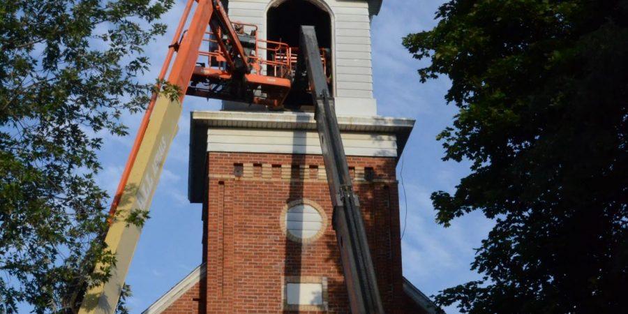 St. John UCC church bell removal