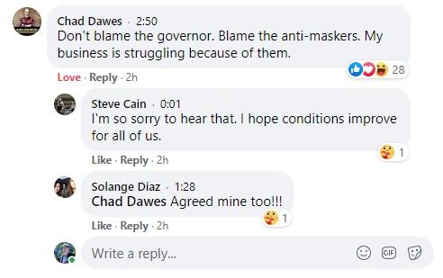 Chad Dawes masks