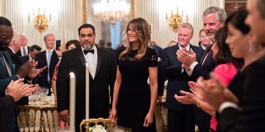 Melania Trump with evangelicals