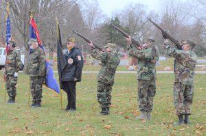 Aurora rifle team helps Montgomery VFW in ceremony