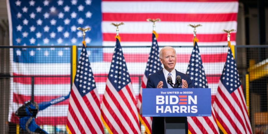 Joe Biden campaigns