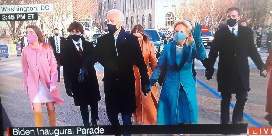 President Joe Biden walk parade route