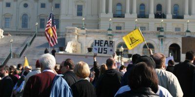 Trump marchers at the U.S. Capitol
