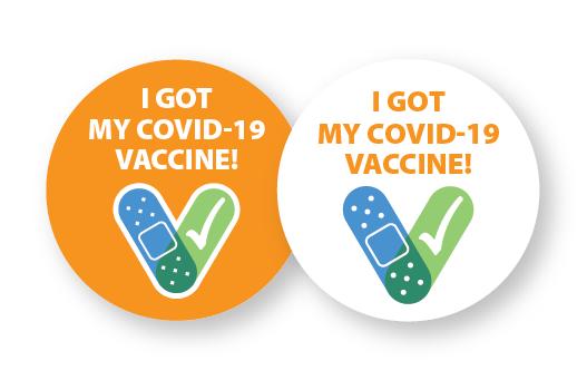 Vaccine stickers