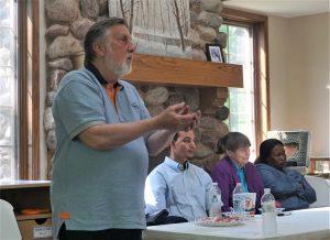 George Koch speaks at Messiah for Muslims retreat.
