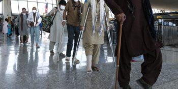 Afghans at airport