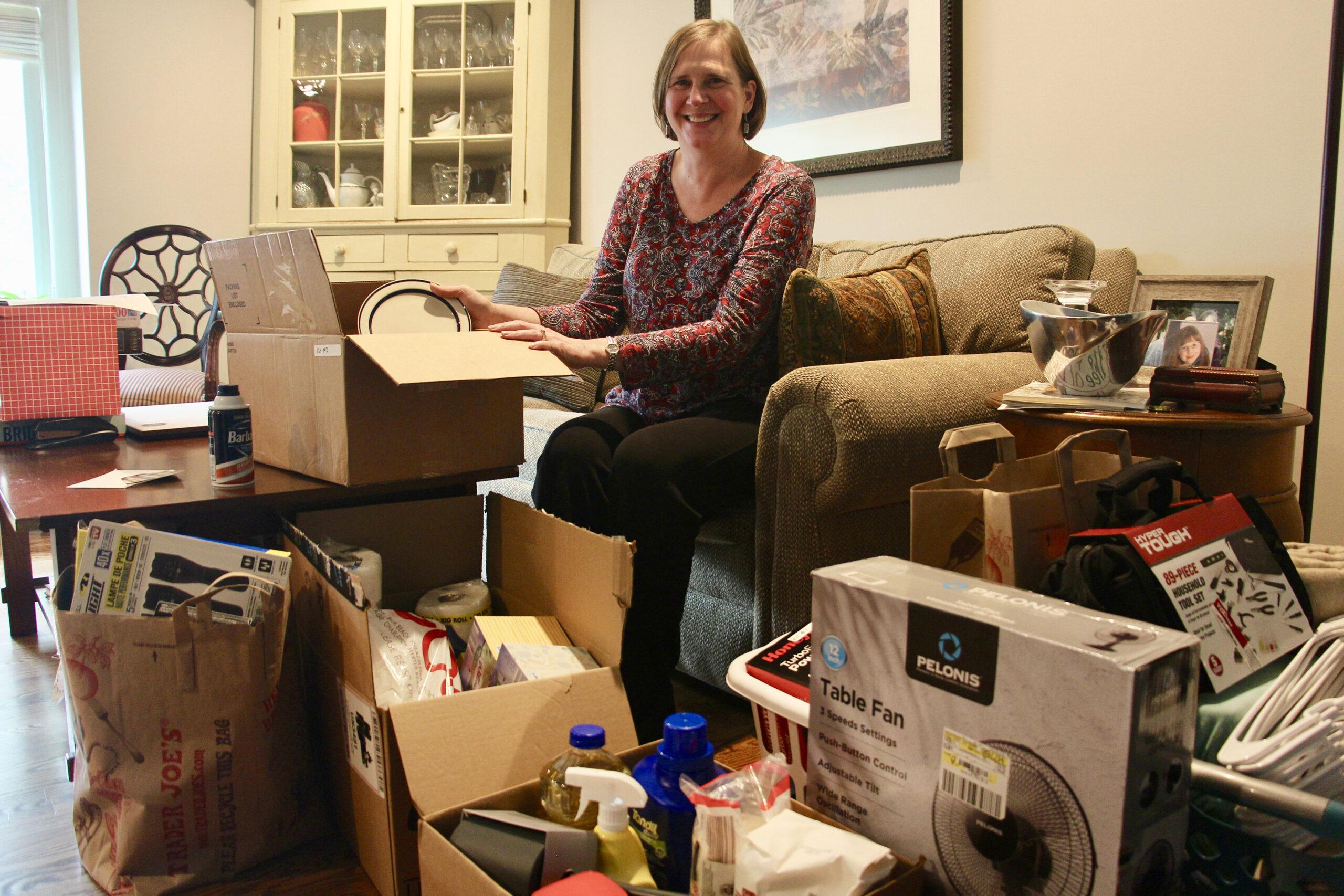 Amy Treier helps Afghan evacuees